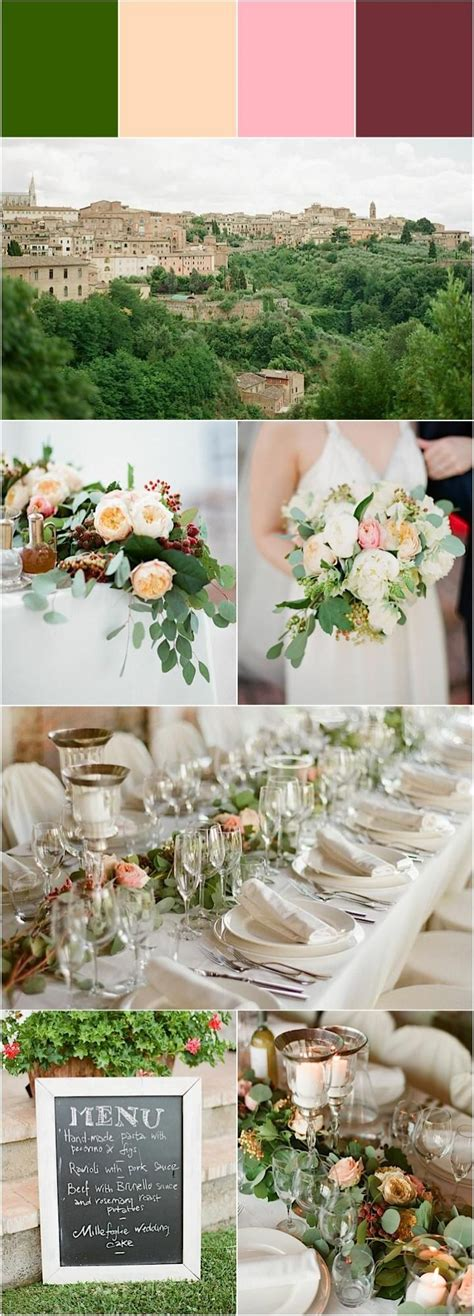 destination wedding romantic celebration in tuscany
