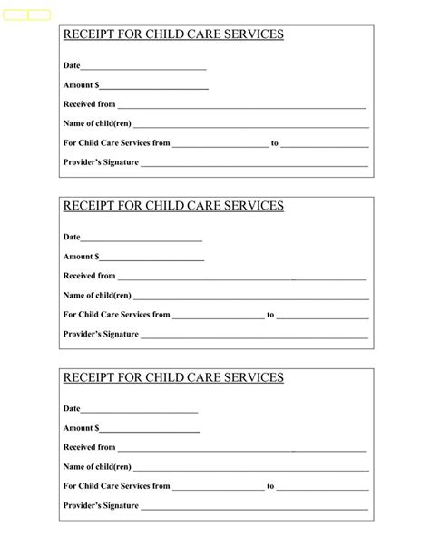Printable Receipt For Babysitting | babysitting receipt bing images babysitter papers
