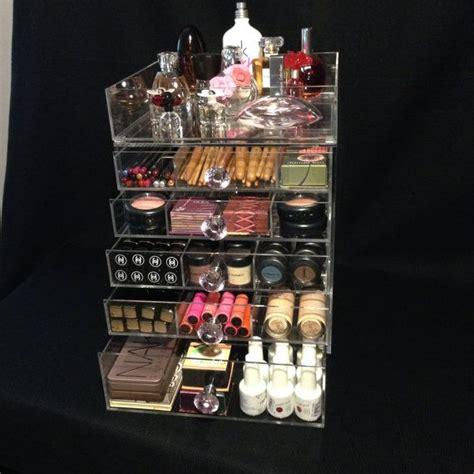 clear acrylic makeup organizer cube with 7 drawers clear acrylic makeup organizer 6 7 drawer clear cube