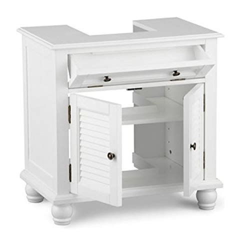 Bathroom Pedestal Sink Storage Cabinet Pedestal Sink Storage Space Saver Organizer Shelf Vanity Bathroom Cabinet Ebay