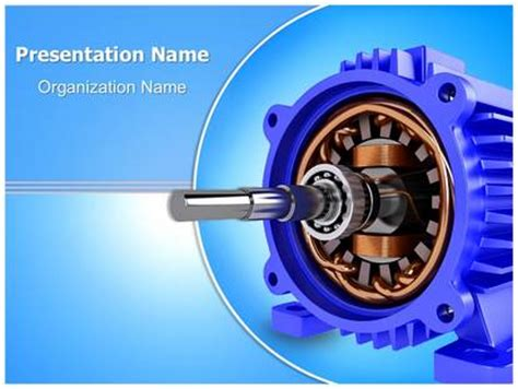 induction motor ppt magnetic induction motor powerpoint template background subscriptiontemplates
