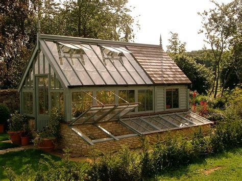 greenhouse  potting shed attached google search