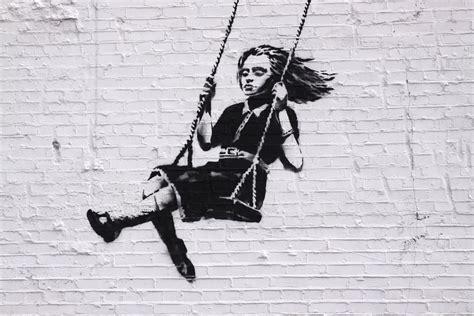 banksy parking girl swing banksy y el graffiti obras de banksy