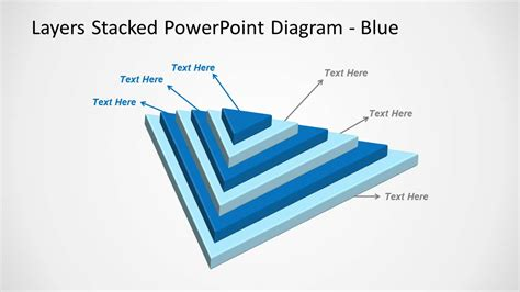 stacked diagrams for powerpoint 3d stacked multi layer diagram for powerpoint slidemodel