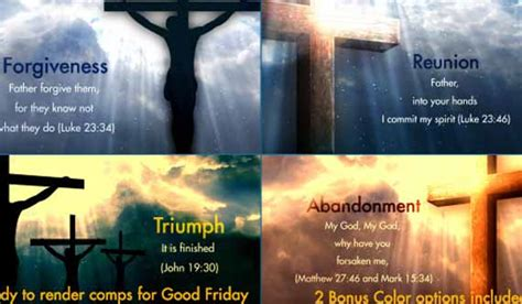 Holy Week And Easter Specials 15 Worship After Effects Templates Church After Effects Templates