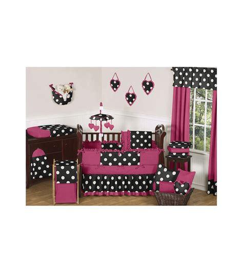 Sweet Jojo Designs Hot Dot 9 Piece Crib Bedding Set Jojo Designs Crib Bedding Sets