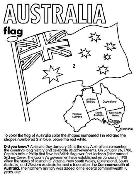 australia day colouring pages australia coloring the