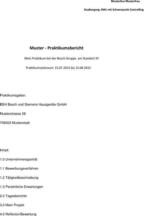 Muster Praktikumsbericht Muster Praktikumsbericht Pdf