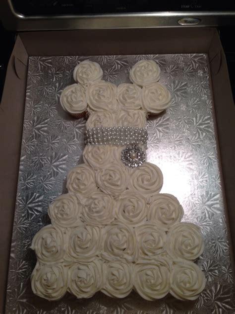 cupcake cakes for wedding shower wedding dress cupcake cake bridal shower cakecentral