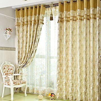 vorhang muster one pair classic jacquard botanical energy saving