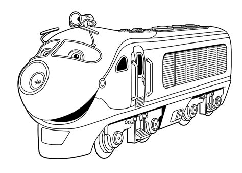 chuggington coloring pages games image gallery koko from chuggington