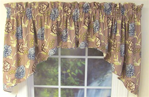 valance and swag curtains corded swag valance custom select