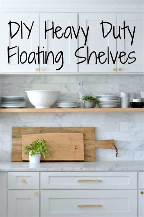 Inexpensive Cabinets For Kitchen by Diy Heavy Duty Bracket Free Floating Kitchen Shelves