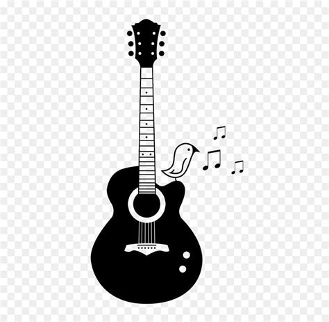 acoustic guitar tattoo acoustic guitar png black and white transparent acoustic