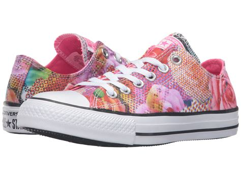 Converse All Ox Flower Motif converse chuck 174 all 174 digital floral print ox in white lyst