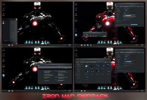 download themes for windows 7 iron man iron man skinpack for windows 7 8 8 1 windows10 themes i