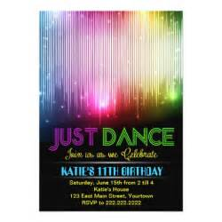 disco just dance party invitation zazzle