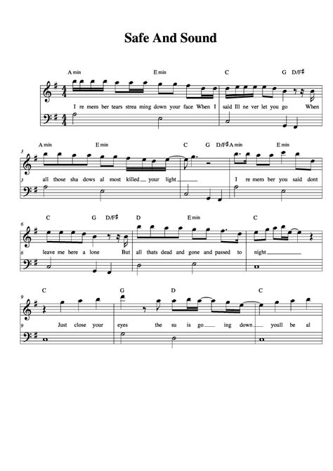 taylor swift call it what you want piano chords piano sheet music safe and sound taylor swift download