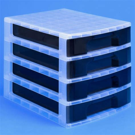 Really Useful Drawer Tower by Really Useful Desktop 4 Drawer Unit 20 Litre Plastic