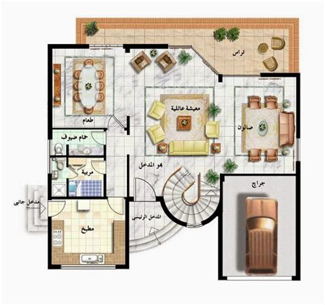 floor plan front view two story modern house front view ground and first floor