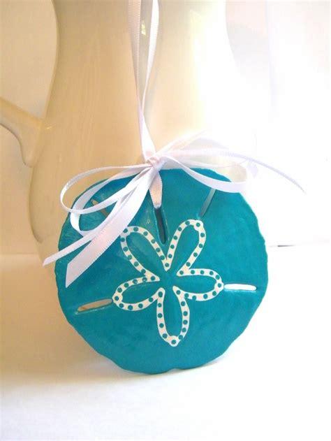 aqua sand dollar christmas ornament by beachseacrafts