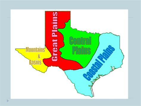texas 4 regions map four regions of texas
