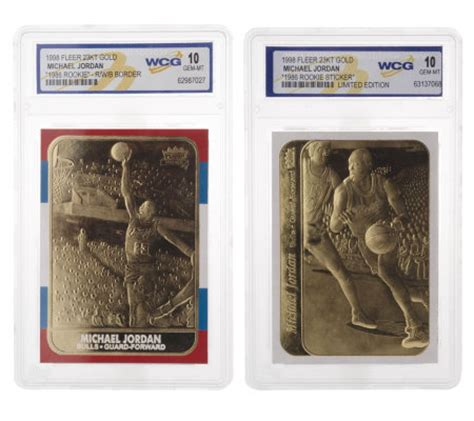 Plated Gift Card - michael jordan set of 2 fleer rookie 23k gold plated cards qvc com