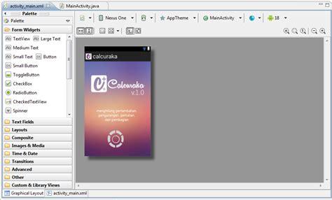 membuat aplikasi sederhana pada android membuat aplikasi android kalkulator sederhana menggunakan