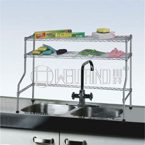 home the sink organizer steel nsf approval stainless steel 2 tiers home kitchen the