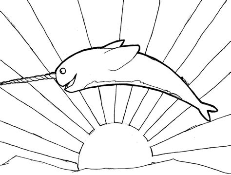 coloring page narwhal narwhal coloring page az coloring pages