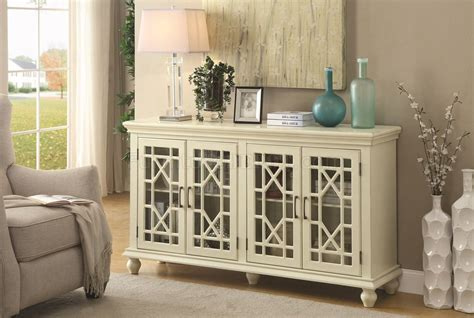 accent cabinet  antique style white  coaster