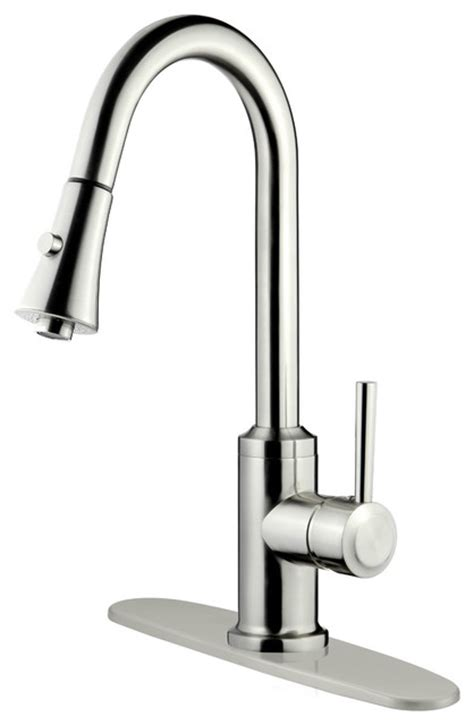3 hole kitchen faucet brushed nickel finish pull down kitchen faucet lk11b 1