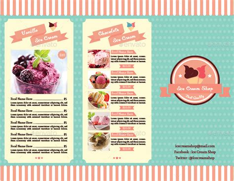 trifold ice cream menu template vol 2 by avindaputri