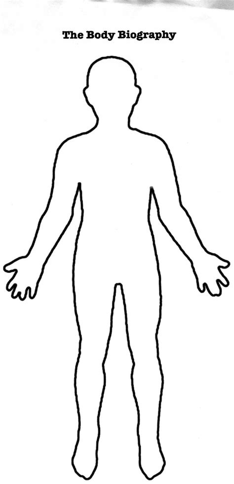 Blank Human Body Diagram Anatomy Human Human Printable