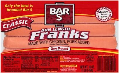 bar s recall bar s recalls chicken and pork products including franks and corn dogs food safety news