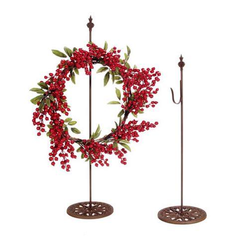 30 quot free standing metal wreath hanger hook stand rust