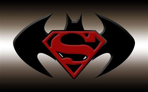 Kalung Logo Superman Vs Batman superman and batman logo wallpapers wallpaper cave
