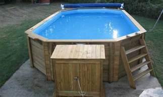 le montage d une piscine hors sol en bois