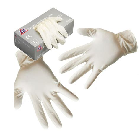 dynatex latex powdered disposable gloves 100 pack box x