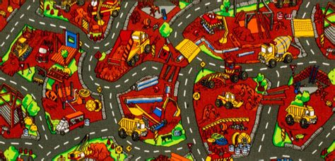 Construction Play Rug by Play Mats Play Carpets For Many Sizes Themes