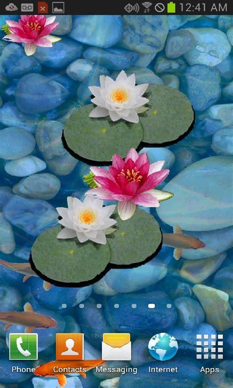 3d pond wallpaper free 3d koi pond live wallpaper free apk for