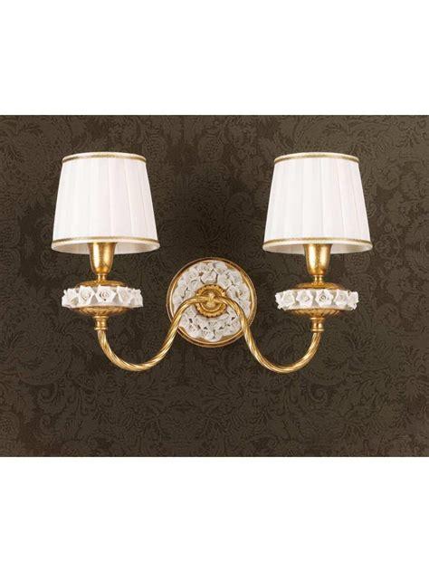 applique foglia oro applique classico in foglia oro e porcellana 2 ap 154 2