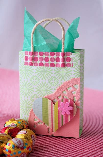 Gift Bags From Scrapbook Paper - gift bag made from scrapbooking paper bags bows