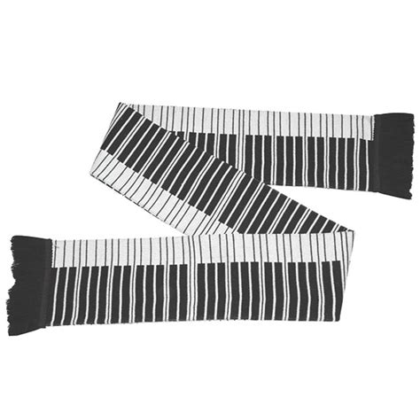 piano keyboard scarf with fringe at what on earth cm0886