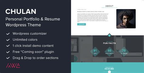 35 Personal Resume Portfolio Wordpress Themes Tutorial Zone Personal Portfolio Template Free