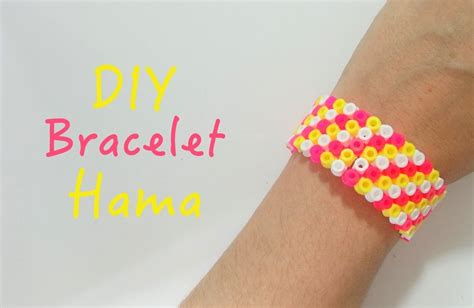 DIY Faire un bracelet avec des perles à repasser Hama   YouTube