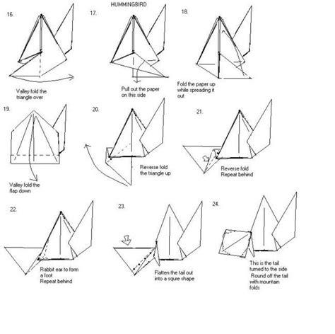 origami hummingbird tutorial origami hummingbird instructions