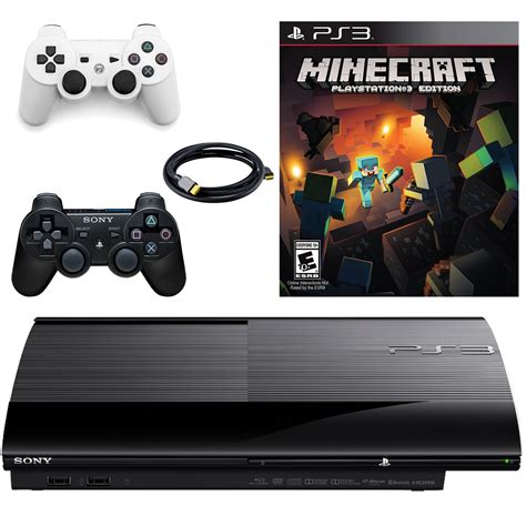 minecraft console ps3 sony playstation 3 slim 500gb console with minecraft