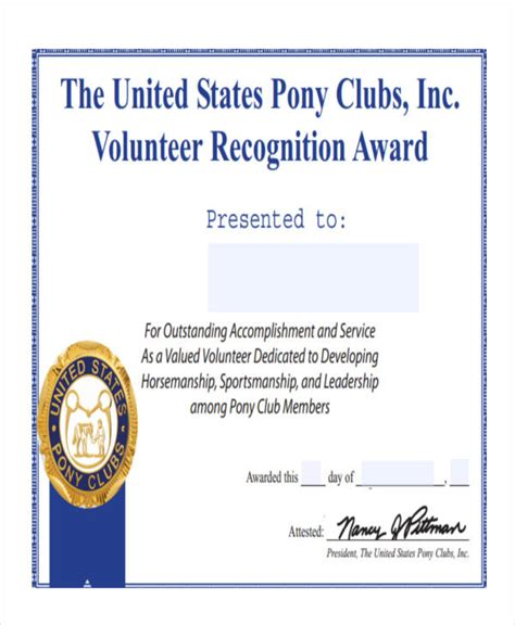 volunteer award certificate template hatch urbanskript co