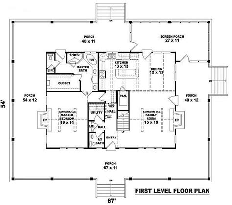 country style open floor plans simple box shape with open floor plan and a lot of porch